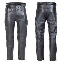 Spodnie motocyklowe męskie, Męskie skórzane spodnie motocyklowe W-TEC Roster NF-1250, Czarny, 42