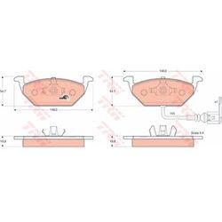 KLOCKI HAM TRW GDB1386 AUDI A2 1.4 00-05, 1.6FSI 02-05, 1.4TDI 00-05, A3 1.6 00-, 1.9TDI 00-