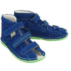 DANIELKI TA115 blue fluo, obuwie rehabilitacyjno-profilaktyczne dziecięce, rozmiary:27-32 - Niebieski