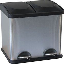Merida kosz na śmieci do segregacji odpadów 30 litrów Dwukomorowy kosz na śmieci do segregacji odpadów