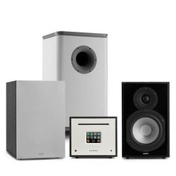 Numan Unison Reference 802 Edition, system stereo, wzmacniacz, UniSub, głośniki, czarny/szary