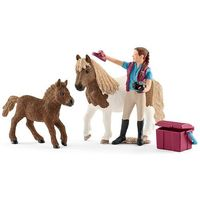 Figurki i postacie, Zestaw Opiekunka kucyków Shetty 42362 - Schleich