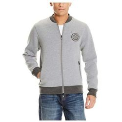 bluza BENCH - Bonded Bomber Sweatjacket Light Grey Marl Winter (MA1052) rozmiar: M