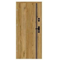 Drzwi wejściowe otwierane do wewnątrz HERMES Dąb Catania 80 Lewe NAWADOOR