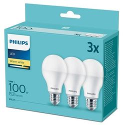 Żarówka LED Philips A60 E27 1521 lm 2700 K 3 szt.