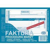 Druki akcydensowe, Faktura procedura marży - przedmioty kolekcionerskie i antyki, (O+1K) A5 - G1393
