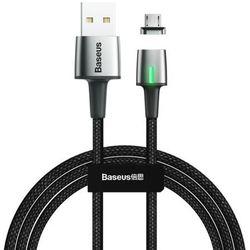 Baseus Zinc magnetyczny kabel USB / micro USB 1m 2.4A czarny (CAMXC-A01) - USB Typ A (męski) ||Micro USB Typ B (męski) \ 100