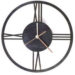 Drewniany zegar na ścianę Rzymskie cyfry ze złotymi wskazówkami Dekoracje drewniane na ścianę (-10%)