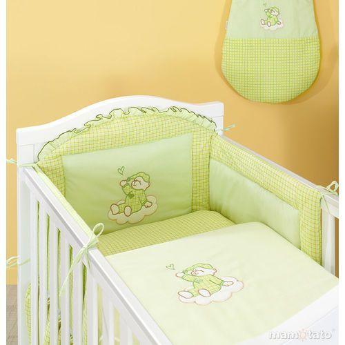 Zabezpieczenia do łóżeczek, MAMO-TATO Ochraniacz do łóżeczka 60x120 Śpioch na chmurce w zieleni - PROMOCJA