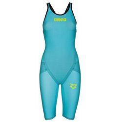Arena strój startowy damski carbon flex vx fbslclb turquoise, kolor: blue, zatwierdzone przez fina: tak, rozmiar stroju startowego: uk32