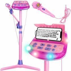 Iso trade Zestaw karaoke dla dzieci stojak + mikrofon na mp3