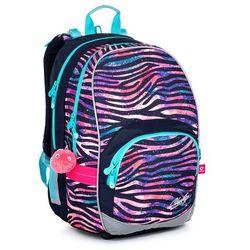 Topgal Dziewczęcy plecak w paski zebra kimi 21010 g