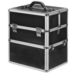 kuferek kosmetyczny neonail kuferek kosmetyczny duży xxl z dolną komorą - czarny marki Neonail