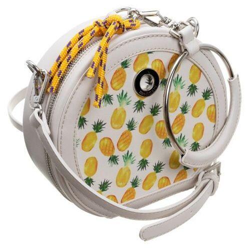 Torebka damska kuferek w ananasy monnari 1650 biała, kolor biały