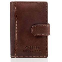 Skórzane etui na dokumenty wild 5515-1 brązowy