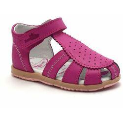 Skórzane sandały dla dzieci RenBut 11-1481, kolor różowy