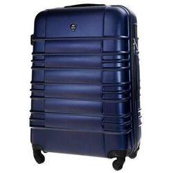 Solier Duża walizka podróżna stl838 granatowa