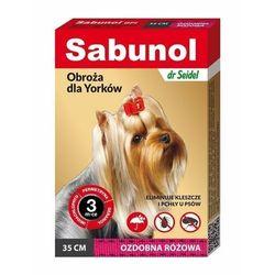Dr seidla Sabunol obroża przeciw kleszczom i pchłom różowa 35cm