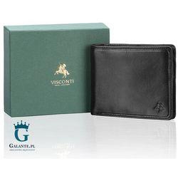 Visconti Mały portfel skórzany tsc-46 rfid