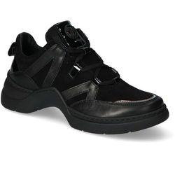 Sneakersy Nessi 19645 Czarne lico+zamsz