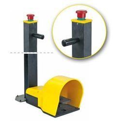 Pojedynczy przycisk nożny z osłoną 1no z przyciskiem bezpieczeństwa, żółty, ip7007em marki Giovenzana