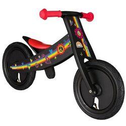 """Rowerek biegowy dwukołowy Bike Star 12"""" drewniana obracana rama 2 w 1 czarny (4260184711994)"""
