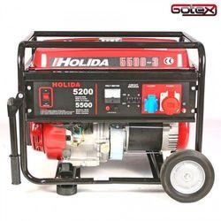 Agregat prądotwórczy, generator HOLIDA WM5500-3 trójfazowy 5,5 kW rozruch ręczny, 776