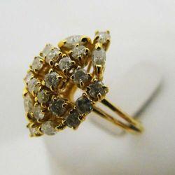 Złoty pierścionek z brylantami P1176A, kolor żółty
