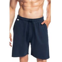 Męskie spodnie do piżamy Atlantic krótkie NMB 039 granatowe, kolor niebieski