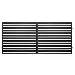 Polbram steel group Brama dwuskrzydłowa lara 2 350 x 154 cm czarna