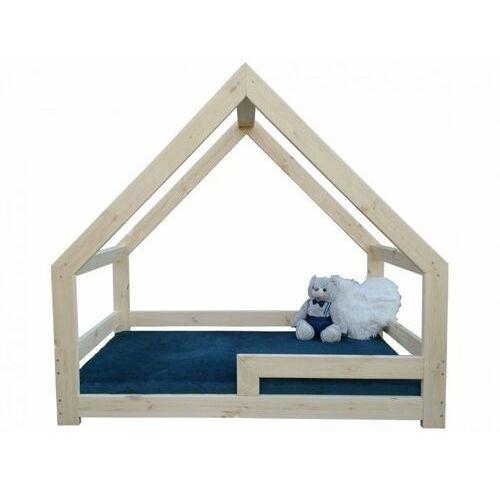 Krolik beds Łóżko dziecięce domek, 140x70 z barierką - symetryczne