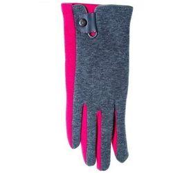 Rękawiczki r-039 z zapinką damskie rozmiar: 22 cm, kolor: wielokolorowy, yo! marki Yo!
