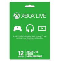 Klucze i karty przedpłacone, Xbox Live 12 Months Gold Membership Card Global