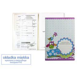 Okładka etui na książeczkę zdrowia dziecka, PVC - 5-niebieski hipopotam