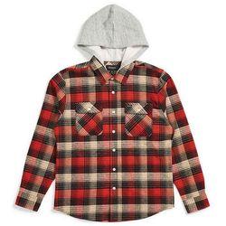 koszula BRIXTON - Bowery Hood L/S Flnl Red/Black Combo (RDBKC) rozmiar: M