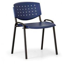 Krzesło konferencyjne Tony, niebieski - kolor konstrucji czarny