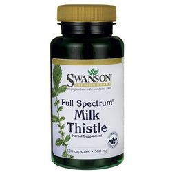 Swanson Full Spectrum Milk Thistle (Ostropest plamisty) 500mg 100 kaps.