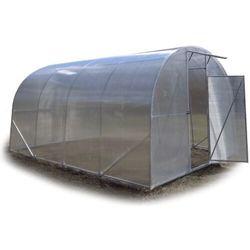 """Tunel szklarnia """"Premium"""" 3x10 z ocynkowanej rury kwadratowej z poliwęglanem 4 mm"""