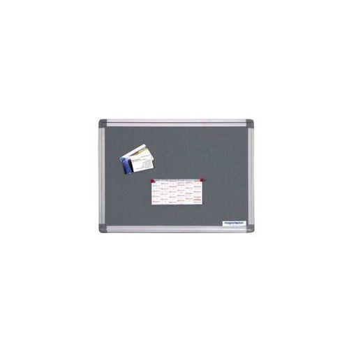 Tablice i flipcharty, Tablica tekstylna SP szara ALU 600x450 mm