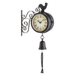 Blumfeldt Early Bird Zegar ogrodowy Zegar ścienny Termometr 28x34x10cm Dzwonek Retro