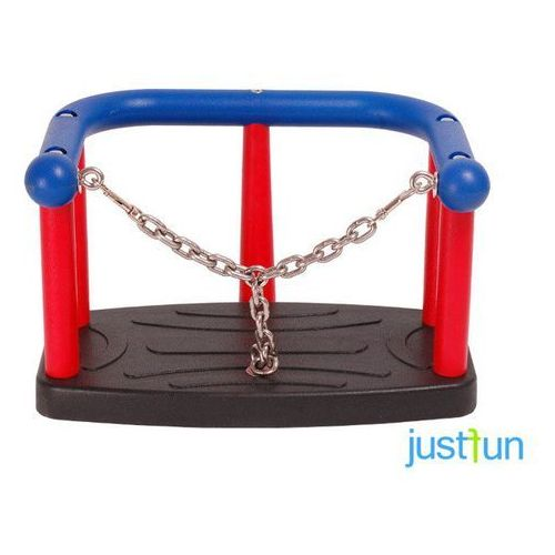 Huśtawki ogrodowe dla dzieci, Huśtawka kubełkowa LUX z łańcuszkiem + komplet łańcuchów ocynkowanych 5mm - 1,8 m