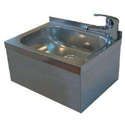 Umywalka ze stali nierdzewnej | jednokomorowa | obudowana | bateria stojąca | 400x295x(H)205mm
