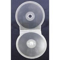 Pudełka i portfele na płyty, Pudełko na 1 CD/DVD 5mm - Shell muszelka bezbarwne matowe 50szt.