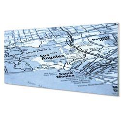 Obrazy akrylowe Mapa miasta