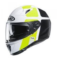 Kaski motocyklowe, HJC KASK INTEGRALNY I70 PRIKA WHITE/BLACK/FLO YELL
