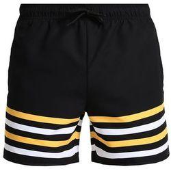 YOURTURN SPORT STRIPE Szorty kąpielowe black/yellow/white