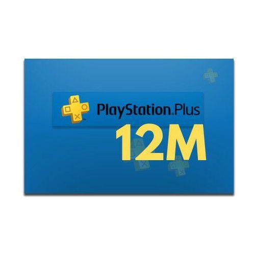 Klucze i karty pre-paid, PlayStation Plus 12 miesięcy