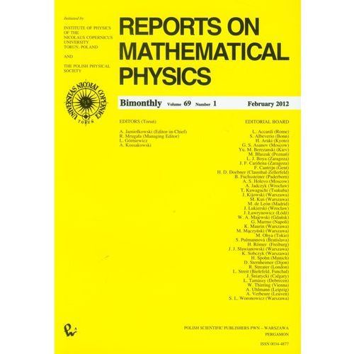 Matematyka, Reports on Mathematical Physics 69/1 (opr. miękka)