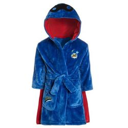 mothercare BOYS SUPER HERO FLUFFY ROBE WITH CAPE Szlafrok blue