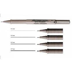 Cienkopis Ecco Pigment Faber-Castell 0,8mm czarny, 10szt. FC166899